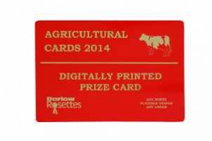 Agricultural Prize cards