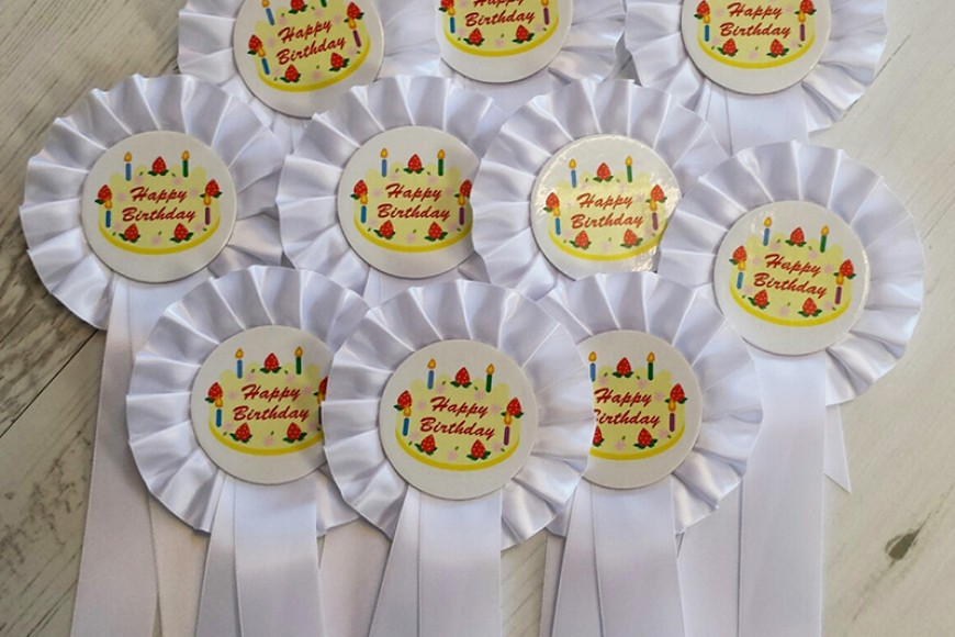 Happy Birthday – say it with rosettes!