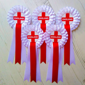 5 England world cup rosettes