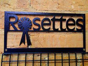 close up rosette display hanger