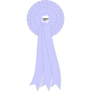 Extra large Brexit Party rosette
