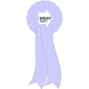 Brexit Party rosette