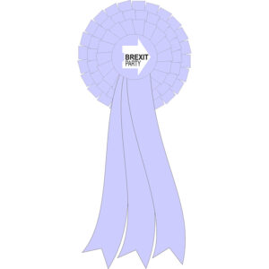 Brext Party 3 tier rosette