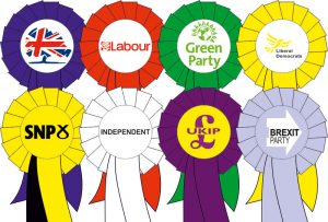 Politica rosettes for elections